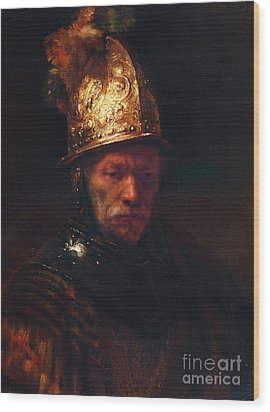 Man With The Golden Helmet Wood Print by Pg Reproductions