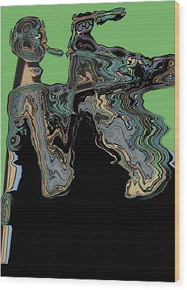 Man Woman Wood Print by LeeAnn Alexander