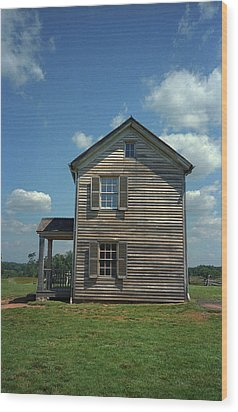 Wood Print featuring the photograph Manassas Battlefield Farmhouse by Frank Romeo