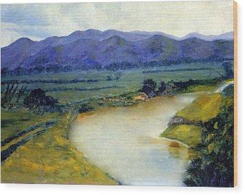 Manati River Wood Print by Gladiola Sotomayor