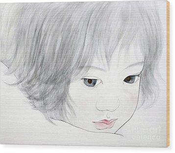 Manazashi Or Gazing Eyes Wood Print