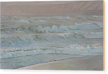 Manchester Beach Wood Print by Robert Bissett