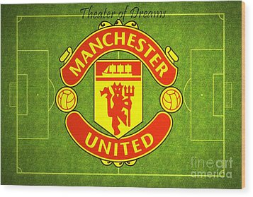 Manchester United Theater Of Dreams Large Canvas Art, Canvas Print, Large Art, Large Wall Decor Wood Print by David Millenheft