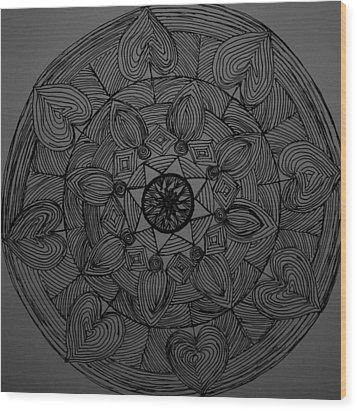 Mandal 1 Wood Print by Usha Rai
