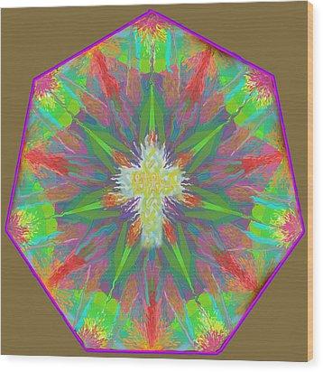 Mandala 1 1 2016 Wood Print