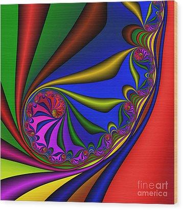 Mandala 209 Wood Print by Rolf Bertram