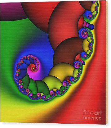 Mandala 210 Wood Print by Rolf Bertram