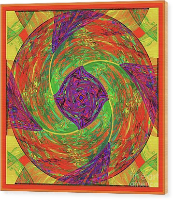 Wood Print featuring the digital art Mandala #55 by Loko Suederdiek