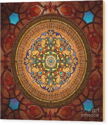 Mandala Arabia Wood Print