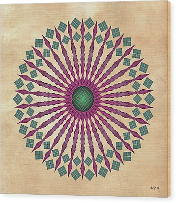 Mandala No. 13 Wood Print by Alan Bennington