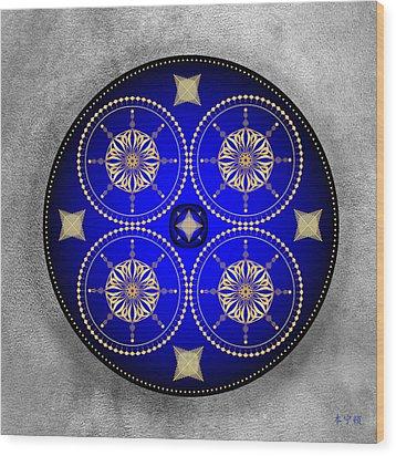Mandala No. 59 Wood Print by Alan Bennington