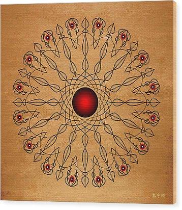 Mandala No. 61 Wood Print by Alan Bennington