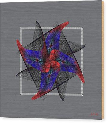 Mandala No. 81 Wood Print by Alan Bennington