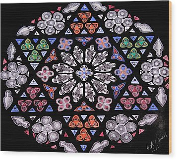 Wood Print featuring the painting Mandala Of Hope Phase 2 by Lisa Brandel