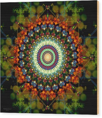 Mandala Of Loves Journey Wood Print by Stephen Lucas
