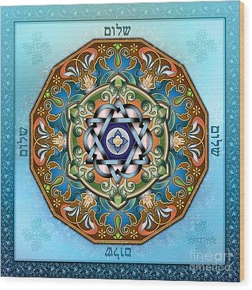 Mandala Shalom Wood Print
