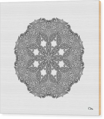 Mandala To Color Wood Print by Mo T