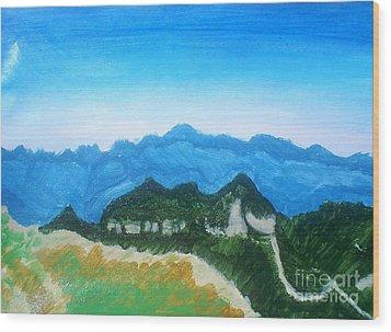 Mandango Mountain Wood Print by Josie Weir
