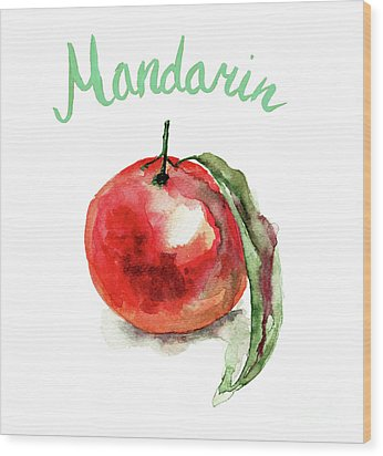 Mandarin Fruits Wood Print