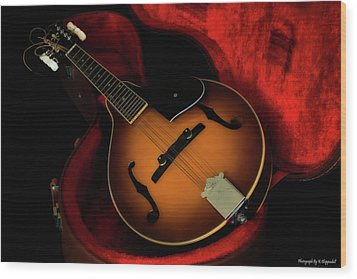 Mandolin Guitar 66661 Wood Print