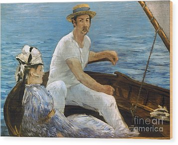 Manet: On A Boat, 1874 Wood Print by Granger