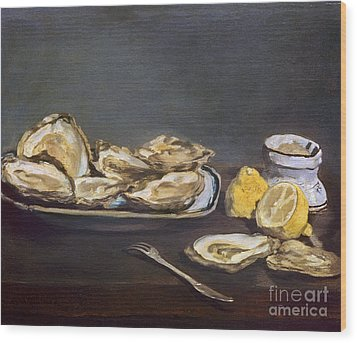 Manet: Oysters, 1862 Wood Print by Granger