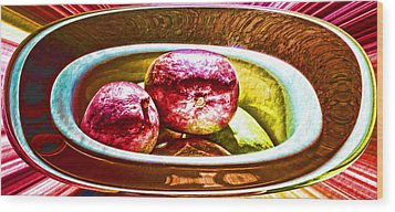 Mango Bowl Wood Print by Aliceann Carlton