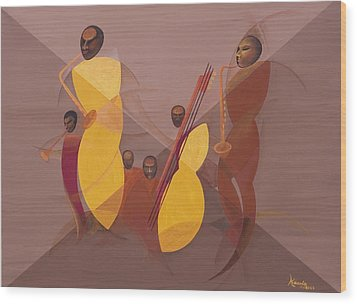 Mango Jazz Wood Print by Kaaria Mucherera