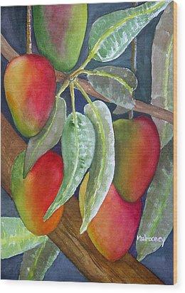 Mango One Wood Print by Terry Arroyo Mulrooney
