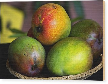 Mangos Wood Print by Gary Dean Mercer Clark