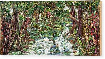 Mangroove Wood Print by Samuel Miller