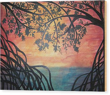 Mangroves Wood Print by Patti Spires Hamilton