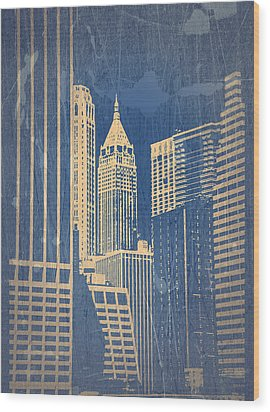 Manhattan 1 Wood Print by Naxart Studio