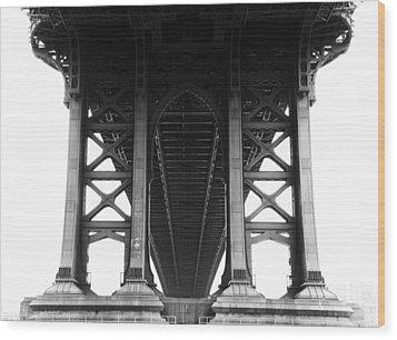 Manhattan Bridge Wood Print by Adam Garelick