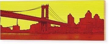 Manhattan Bridge Wood Print by Julie Lueders