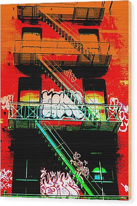 Manhattan Fire Escape Wood Print