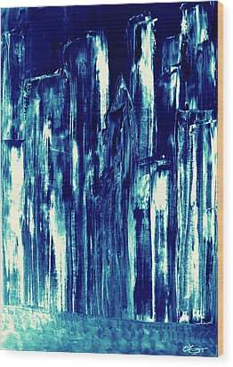 Manhattan Nocturne Wood Print