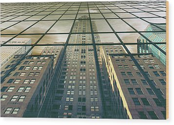 Wood Print featuring the photograph Manhattan Reflected by Jessica Jenney