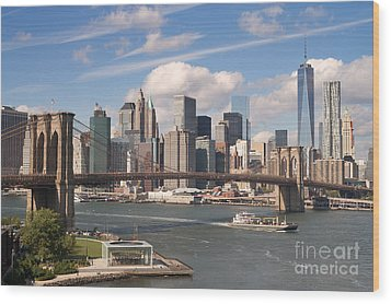 Manhattan Skyline Wood Print by Bryan Attewell