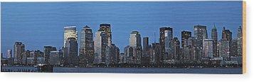Manhattan Skyline Wood Print by John Haldane