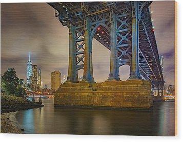 Manhattan Steel Wood Print