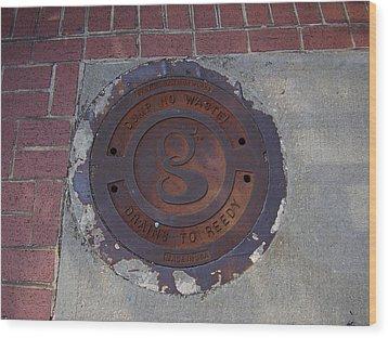 Manhole II Wood Print