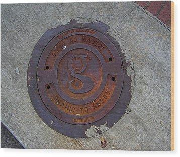 Manhole IIi Wood Print