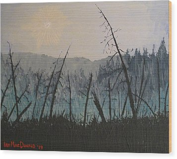 Wood Print featuring the painting Manitoulin Beaver Meadow by Ian  MacDonald
