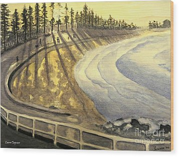 Manly Beach Sunset Wood Print by Leanne Seymour