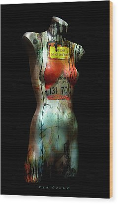 Wood Print featuring the painting Mannequin Graffiti by Kim Gauge