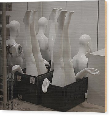 Mannequins Wood Print by Beverly Cash