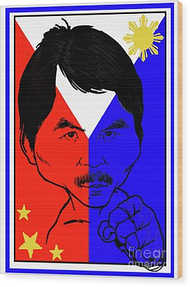 Manny Pacquiao Iron Fist Wood Print by Stanley Slaughter Jr