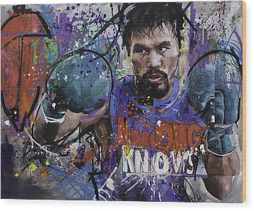 Manny Pacquiao Wood Print by Richard Day