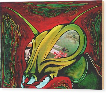 Mantis Wood Print by Jeff DOttavio
